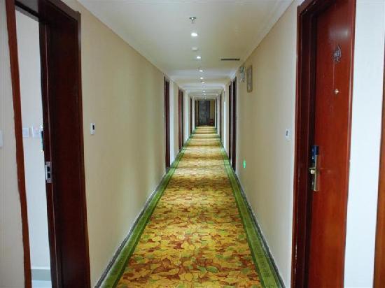 GreenTree Inn Xinyu Train Station 2nd Express Hotel: 走廊