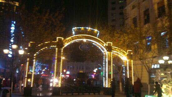 Zhongyang Pedestrian Street: 中央大街冬天冰灯夜景