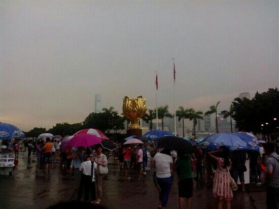 Golden Bauhinia Square : 人山人海