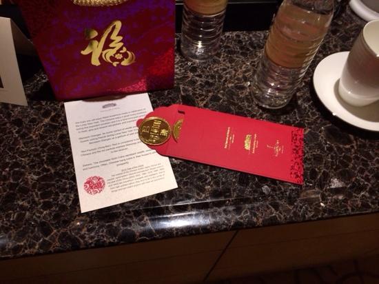 The Fullerton Hotel Singapore: 红包
