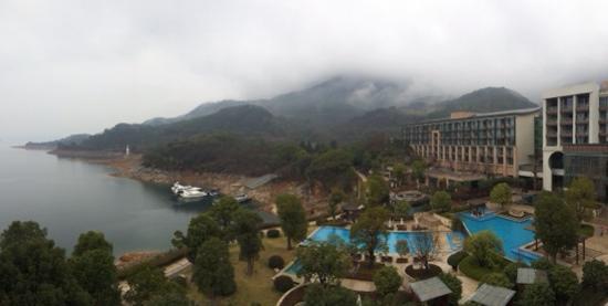InterContinental One Thousand Island Lake Resort: 下雨了 大年初七