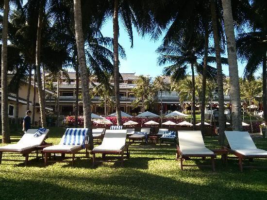 Amaryllis Resort & Spa: 泳池旁的沙灘椅