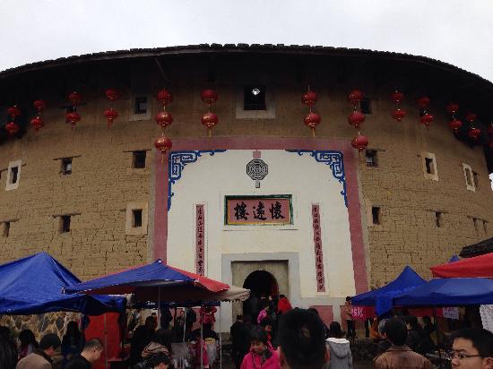 Fujian Tianluo Tulou (Nanjing Wooden building) : 土楼正门