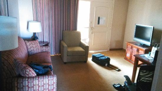 Embassy Suites by Hilton San Francisco Airport - South San Francisco : 房间的客厅