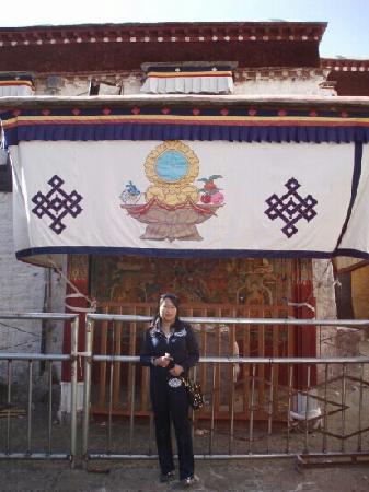 Drepung Monastery (Zhebang Si): 在哲蚌寺的山脚下
