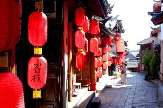 LiyangYage Hostel: 门口景色