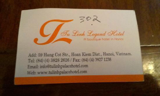 Tu Linh Legend Hotel: 酒店名片