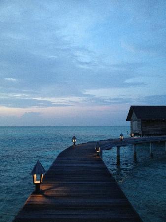Gangehi Island Resort: 傍晚的海上餐厅