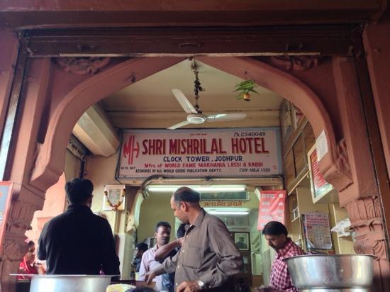 Shri Mishrilal Hotel : 就这个小门脸