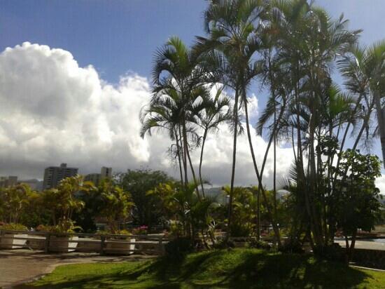 Waikiki Beach Walk: 蓝天白云