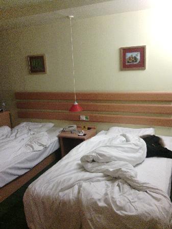 Home Inn (Beijing Mudanyuan): 一进门就快碰到床了