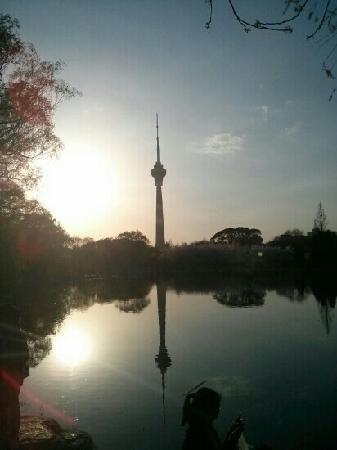 Central Radio and Television Tower (Zhongyang Dianshita): 从玉渊潭拍的