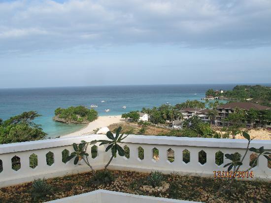 Argonauta Boracay : 酒店露台的景色