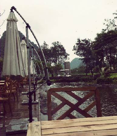 Club Med Guilin: it was raining