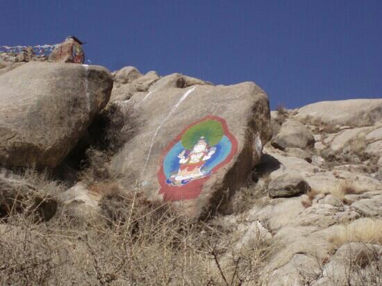 Pabangka Monastery: 帕邦喀寺后山的石刻