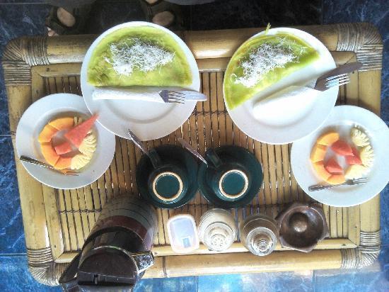 Teba House Ubud Guest House : 早餐