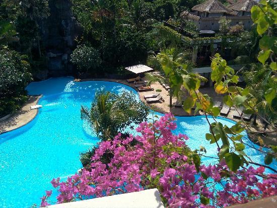 Swiss-Belhotel Segara Resort & Spa : 阳台俯瞰泳池