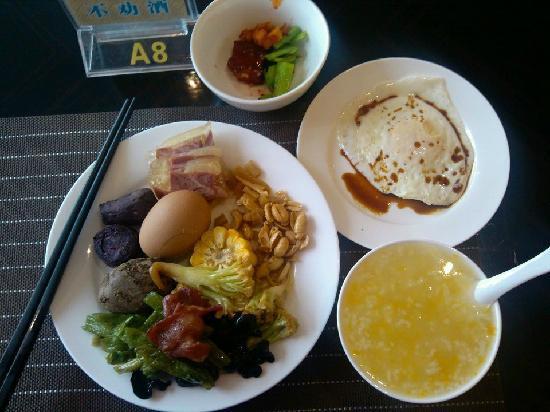 Shu Jiang Hotel: 非常喜欢南瓜粥,吼吼~煎蛋也灰常好吃。