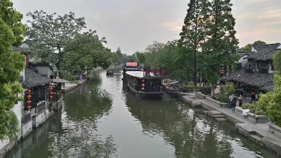Xitang Ancient Town : 这是站在桥上拍的比较大的景,看不到那些不满的地方,反而像幅画。