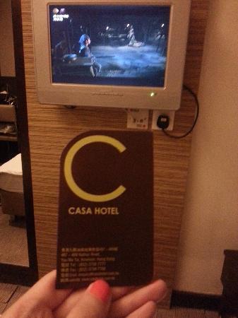Casa Hotel Hong Kong : 电视频道不多