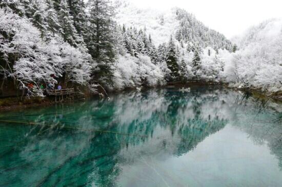Jiuzhaigou Natural Reserve: 冬日里的九寨沟是仙境