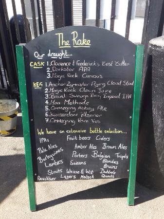 The Rake : 菜牌