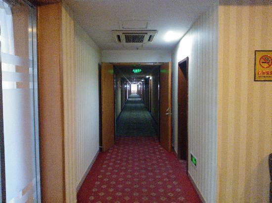 Qiaoyuan Hotel: 酒店的走廊过道