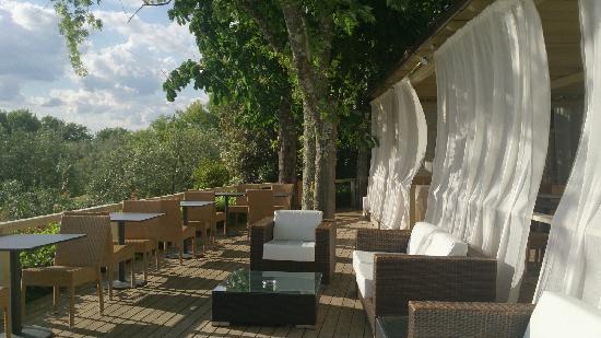 Villa I Barronci : 室外酒廊