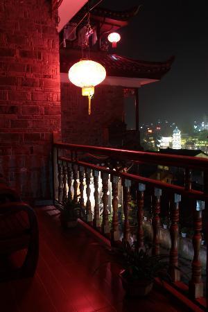 Muxiyuan Family Inn: 房间的阳台