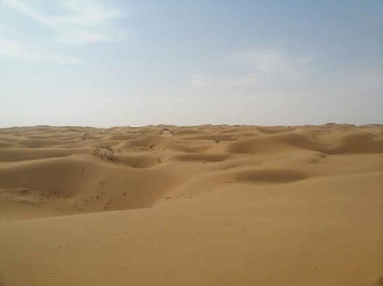 Tenggeli Desert : 绵延的沙漠
