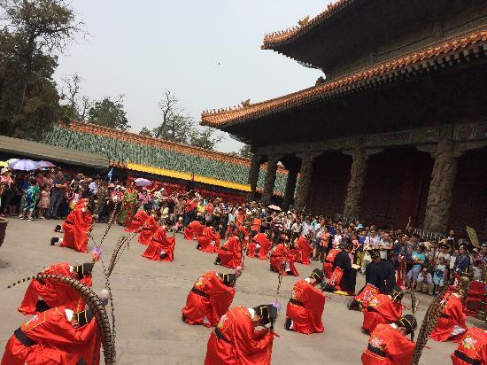 Kong Mansion: 中午的祭祀表演