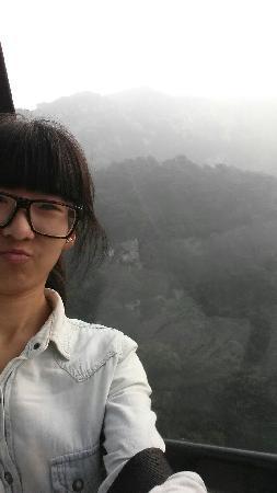 Mount Tai: 乘缆车下山,风景独好,还有点惊险刺激呦!