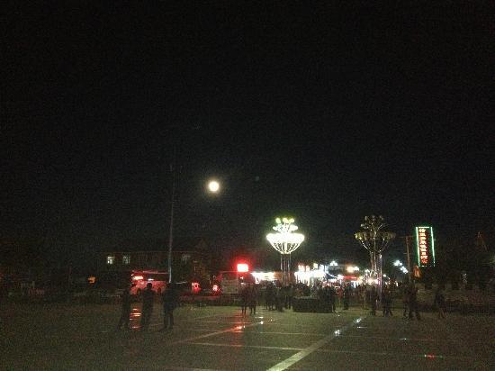 Shiwei Russia Nationality Township : 蒙兀室韦广场夜景
