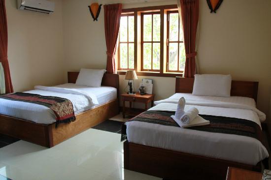 Friendly Villa : 房间还不错,洗澡水也可以,就是卫生间小了点。