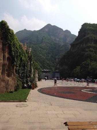 Laishui County, Κίνα: 二道门,依山而建