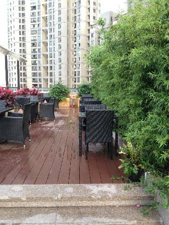 SSAW Boutique Hotel Shanghai Bund: 阳台一角