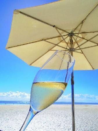 LUX* Belle Mare : 海滩香槟