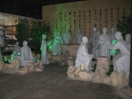 Yangzhou Eight Weird Memorial Hall : 扬州八怪群雕