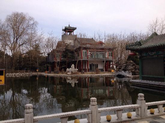 Beijing Sichuan Wuliangye Longzhaoshu Hotel: 酒店庭院