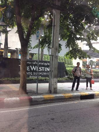 The Westin Grande Sukhumvit: 在朋友车上拍的曼谷威斯汀的牌子,很有味道。