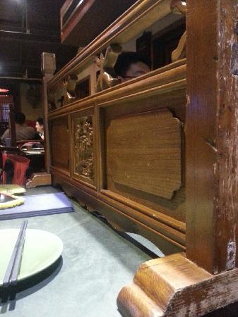 Na Jia Restaurant (Yong'anli): 桌面小屏风