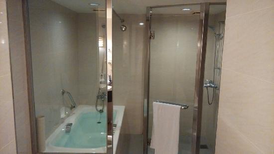 Hotel National: 四人房的浴室很寬廣 有乾濕分離淋雨間及全浸式浴缸