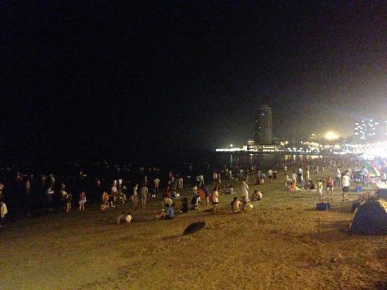Yantai Gold Beach : 夜景