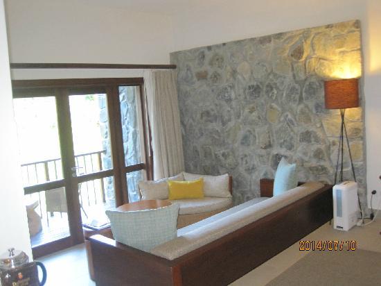 Kempinski Seychelles Resort: 小环境,后来还同认识的朋友友好会谈很久