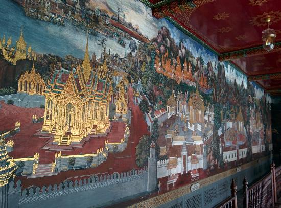Temple of the Emerald Buddha (Wat Phra Kaew): 壁画