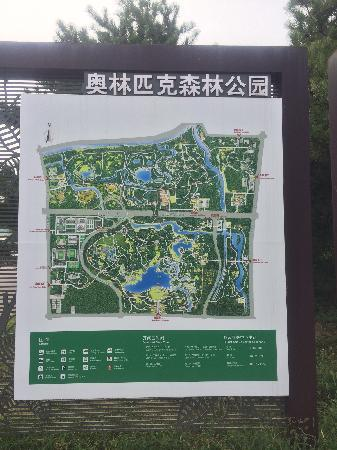 Olympic Forest Park: 景区游览图