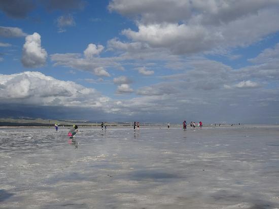 Chaka Salt Lake, Haixi: 就在阳光射来的瞬间