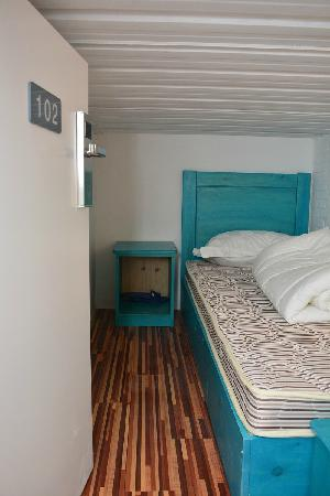 Beijing Drum Tower Youth Hostel: 这是我的房间,虽然小了点,不过还不错