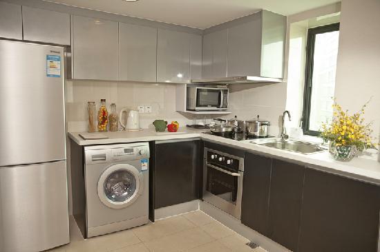 سومرسيت أوليمبيك تاور تيانجين: 豪华一房式公寓-厨房