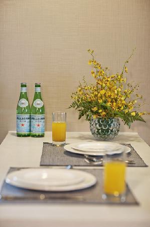 سومرسيت أوليمبيك تاور تيانجين: 豪华一房式公寓-餐厅